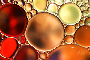Abstract background,colorful oil droplets on water surface,